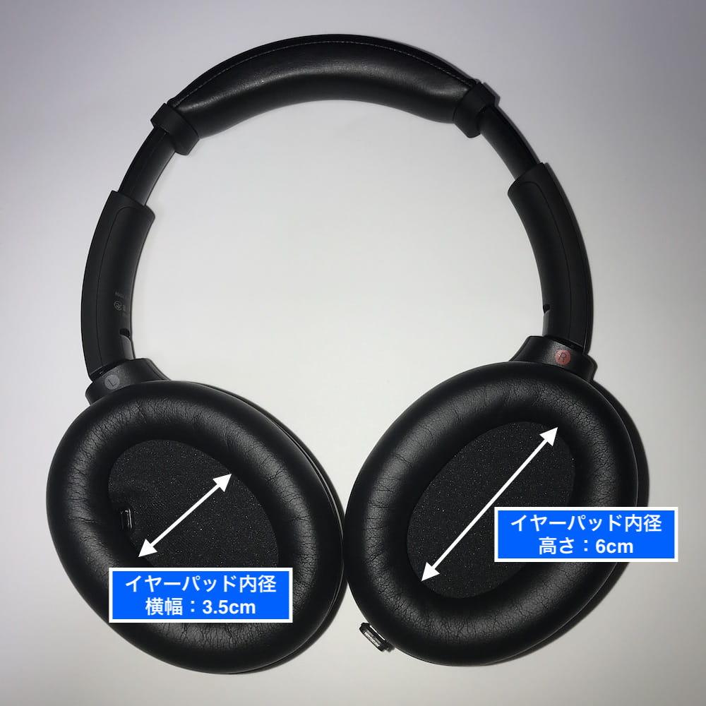WH-1000XM4イヤーパッド内径