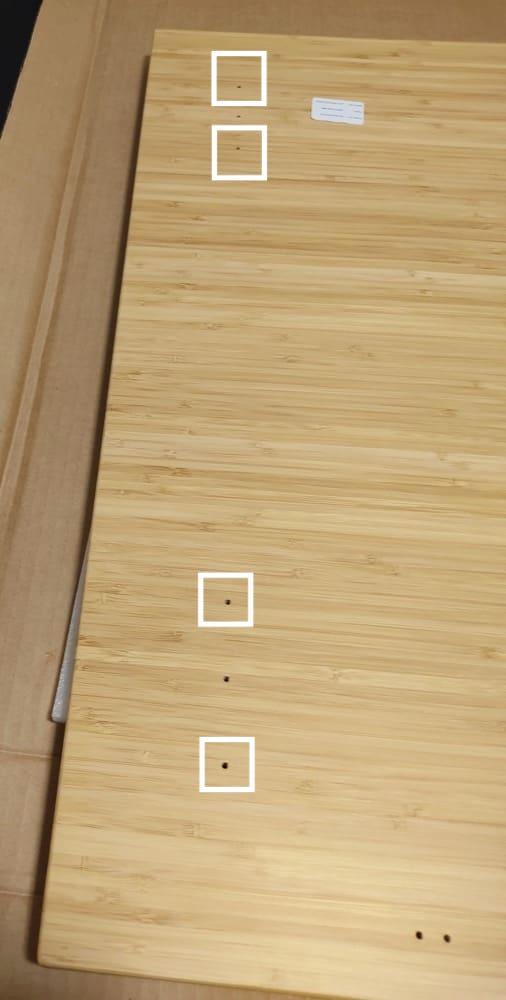 天然竹天板左側の穴