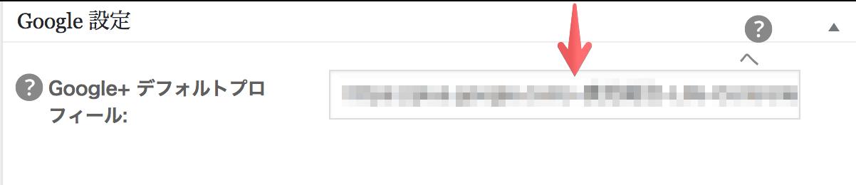All in One SEO PackGoogle+デフォルトプロフィール