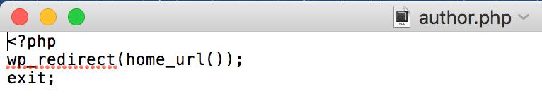 author.phpコード入力