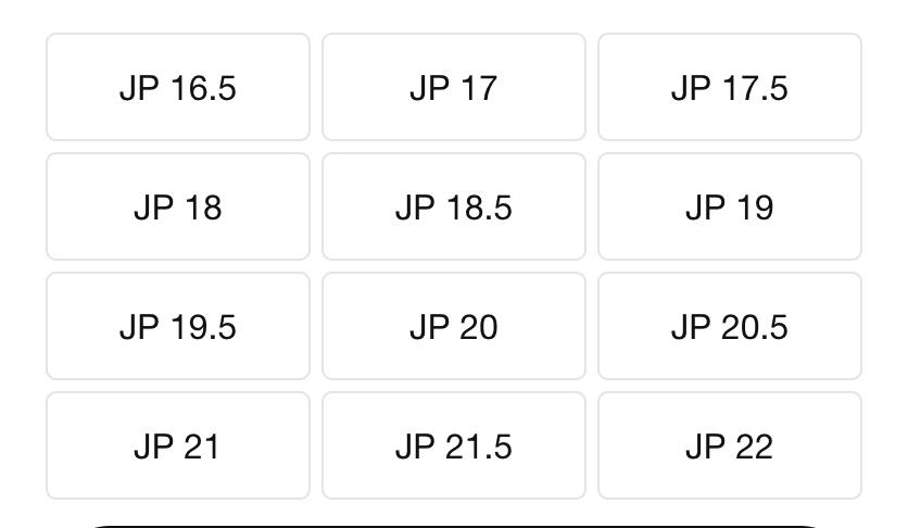 ダイナモフリーキッズサイズ表