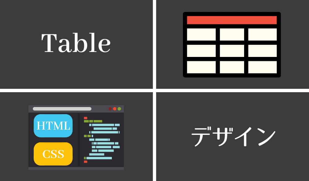 HTMLテーブルをCSSでオシャレにデザインする為の講座